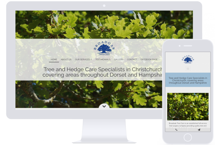 Tree surgeons website design Hampshire